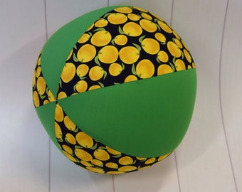 Balloon Ball Fabric, Balloon Ball Cover, Portable Ball, Travel Ball, Inflatable, Sensory, Special Needs, Lemons, Green, Kids, Eumundi Kids