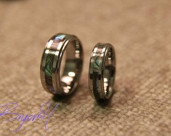 Matching Set Tungsten Carbide Wedding Bands Ring Set For Men And Women,  Custom Engraving His
