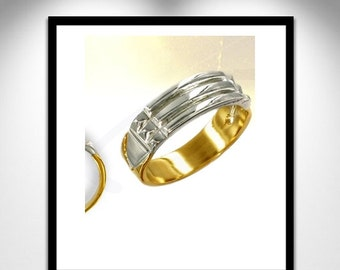 Atlantis Ring Gold and Silver _ ring Atlante gold and silver