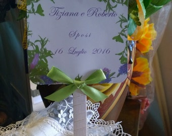 Lavender and Rosemary theme personalized wedding Guest Book
