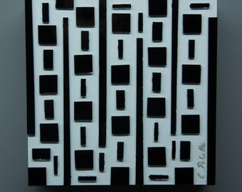 Black and White Glass Art, Glass Art, Wall Decor, Abstract Art, Home Decor, Colorful Art, Contemporary, Modern