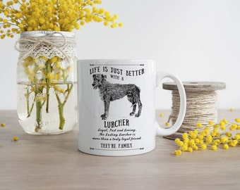 Lurcher Mug ~ Perfect Gift can be personalised