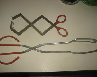 Two Canning Tools from the 70s / For Removing Hot Mason Jars