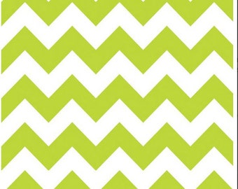 Lime Green Chevron Cotton Fabric Riley Blake Designs - RBD Fabric by the Yard for Quilting, Sewing, Craft Zig Zag Lime -