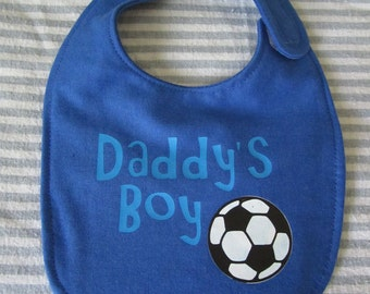 Soccer, Daddy's Boy Digital Download SVG Cut File, Vinyl Cutting Design, Bib Design, for Cricut design Space, Silhouette Studio, MTC, SCAL