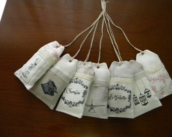 tags scented with Lavender
