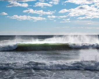 SPINDRIFT - photograph, ocean, spindrift, wall art, waves, surf, coastal