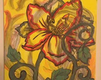 Flower on Canvas