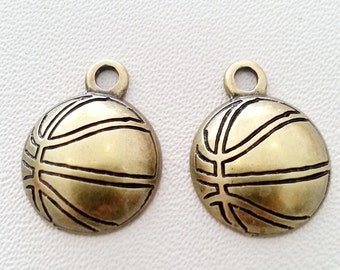 10 pcs. BASKETBALL charms pendant antique bronze 18x18 mm.,accessories,bracelet,necklace,earring,jewelry finding,keychain,leather making