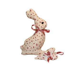 Easter Bunny & Easter heart Sewing Patterns PDF Tutorial Instant Download Plushie Memory