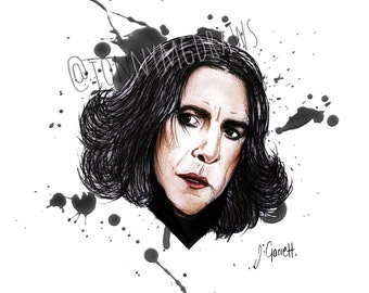 Alan Rickman as Severus Snape A5 Portrait Print
