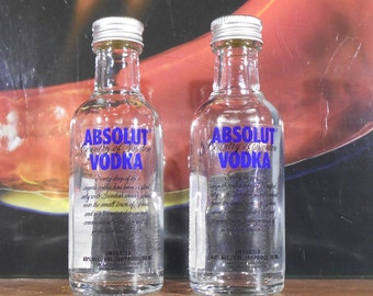 Absolut Vodka Salt and Pepper Shakers