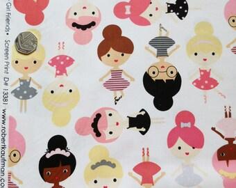 ROBERT KAUFMAN FABRIC 'Girlfriends' ballerina printed cotton
