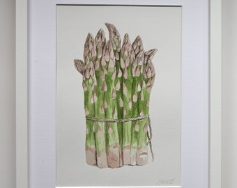 Asparagus,Watercolor painting,original,handmade