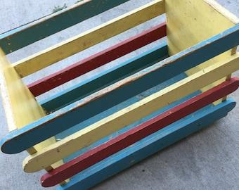 Vintage wood toybox