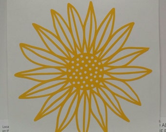 Sunflower Vinyl Decal/Sunflower/Flower/Yeti Decal/Car Decal/Laptop Decal Sticker