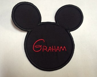 Personalized Mickey Mouse patch