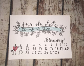 Save the Date with leaves