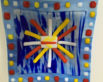 Carnival - a fused glass bowl