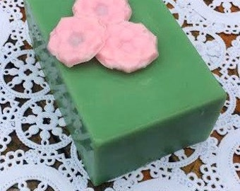 Natural Handmade Soap, Decorative Soap, Bar Soap, Lotus Flower Soap, Gift Soap, Mothers Day Gift