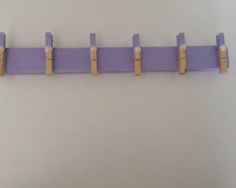 Purple Pearl Peg Rack