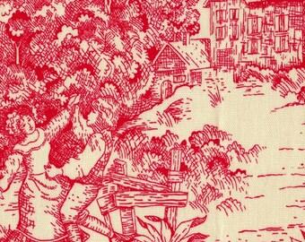 Euro Sham, Tailored, Cherry Red Toile