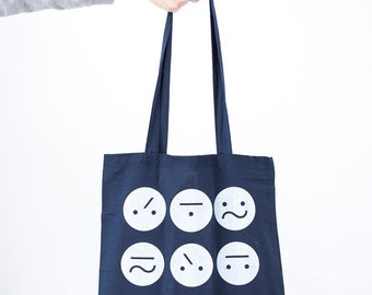 Navy Frown Bag