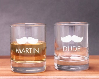 2 pcs Engraved Mustache Shot Glasses (PPD-PMUSESG2)