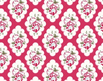 Riley Blake Wiltshire Daisy Red Flowers Fat Quarter