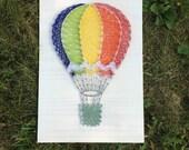 Made to Order String Art Hot Air Balloon Sign
