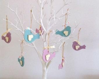 Personalised hanging Bird Decoration