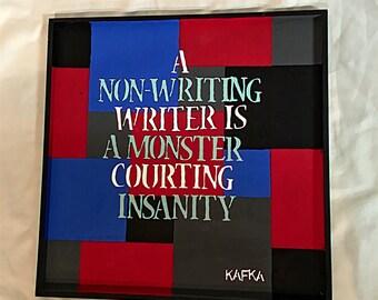 Kafka Hanging Decorative Plaque