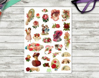 Rose Blush Planner Stickers