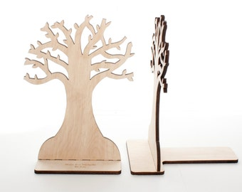 Wood Bookends: Tree of Knowledge (Pair)