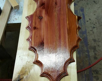 Solid Cedar Arrowhead Plaque