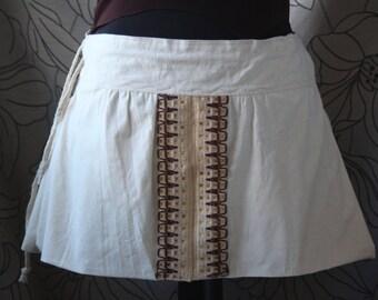 Women's skirt, Medieval skirt,Rustic skirt, Renaissance skirt, Victorian skirt,Cotton lace
