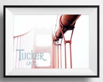 Golden Gate Bridge - San Francisco, California {travel decor wall art print photo photography cali san fran}