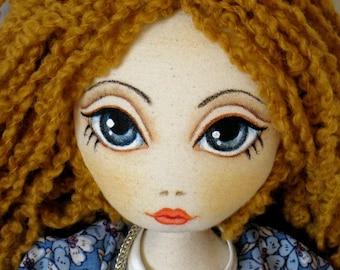 Handmade Doll, Blue eyes Doll