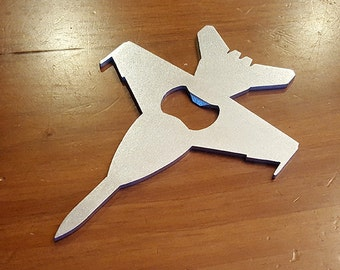 F-18 E/F Super Hornet Rhino Steel Aircraft Bottle Opener