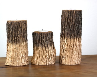Wood Candle Holders | Gold Dipped Candle Holder | Gold | Rustic Wedding Decor | Tea Light | Handcrafted | Reclaimed Wood | Home and Living |