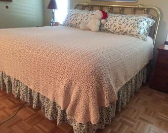 Crochet Bed Spread King Size Popcorn Stitch