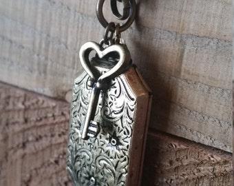 Key & Locket Necklace
