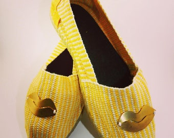 Shoes Espadrille Yellow lip Size 35/6