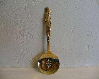 Mr. Peanut, Planters Peanut gold wash plated metal advertising nut spoon
