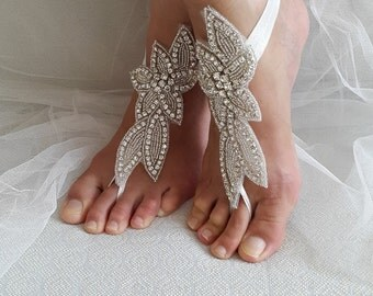 Wedding shoes,summer shoes,foot jewelry, beach shoes,rhinestone,silver, wedding sandals,bridal anklet,beach sandals,, free shipping!