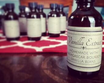 Vanilla Extract, Madagascar Bourbon Vanilla Bean, Food Flavoring, Gift, Baker, Handmade