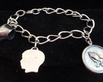 Vintage Sterling Baby Charm Bracelet