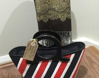 "Abaca (jute) handbag- height 8""x14""width"