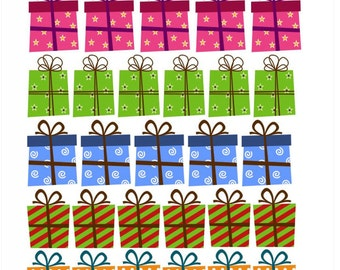 28 Gift / Presents box stickers