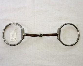 """Myler Eggbutt Loose Ring Snaffle Sweet Iron Mouth 09 Mouth 5"""""""
